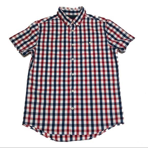 7b08554d Tommy Hilfiger Shirts | Short Sleeve Buttonup Shirt | Poshmark